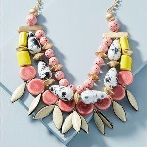 Anthropologie 🌴 Tahiti Bib Drop Necklace
